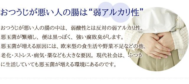"""おつうじが悪い人の腸は""""弱アルカリ性"""""""