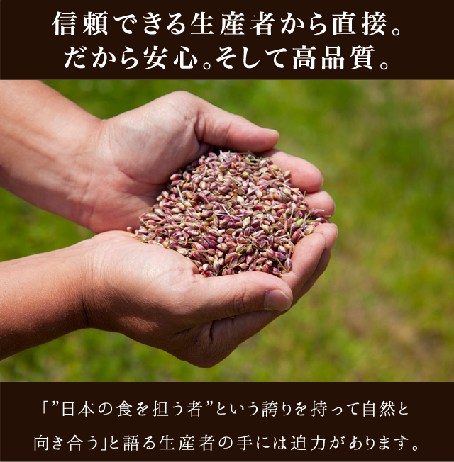 """「""""日本の食を担う者""""という誇りを持って自然と向き合う」と語る生産者の手は迫力があります。"""