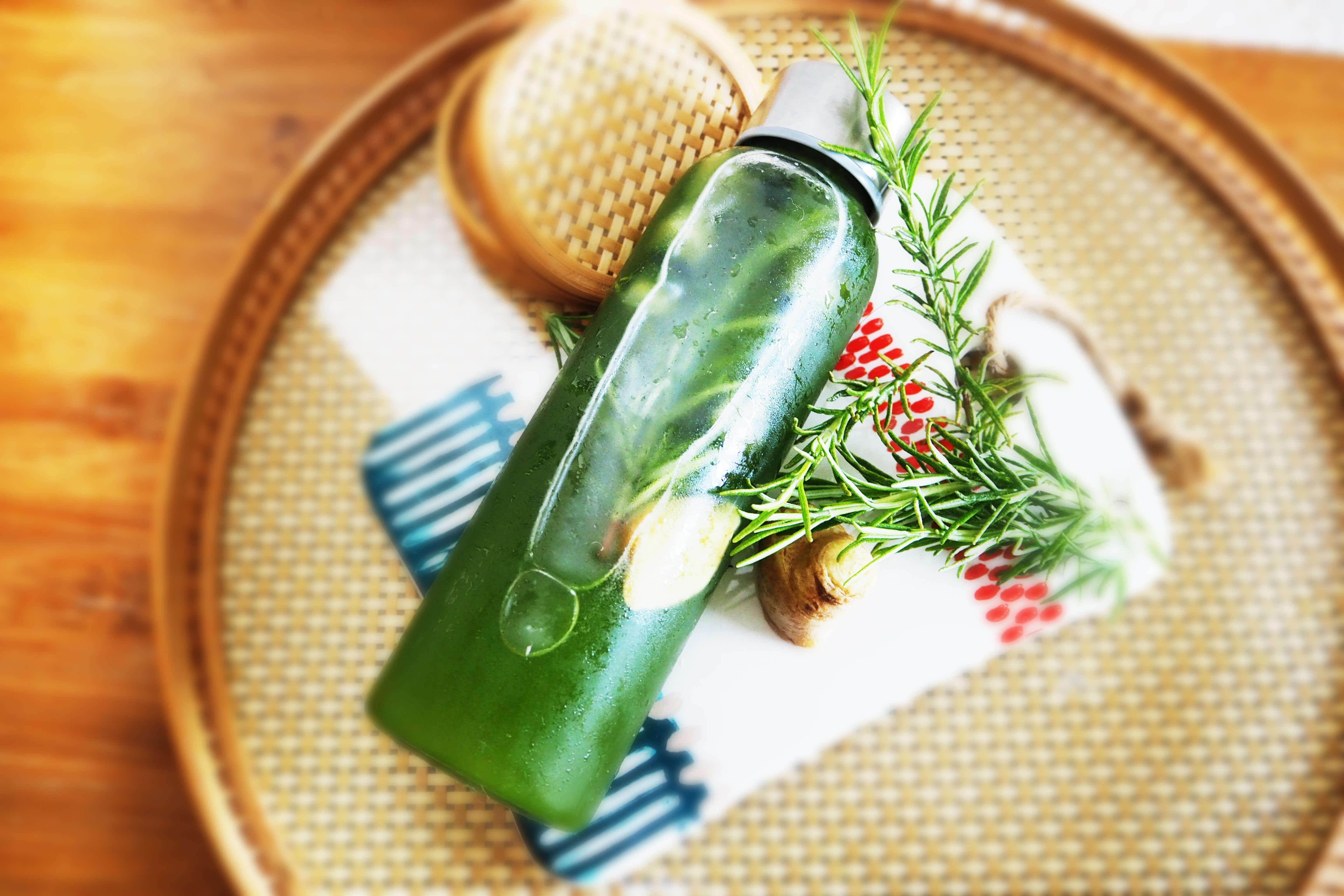 【快腸レシピ】するっと抹茶のグリーンボトルウォーター(ハーブ)